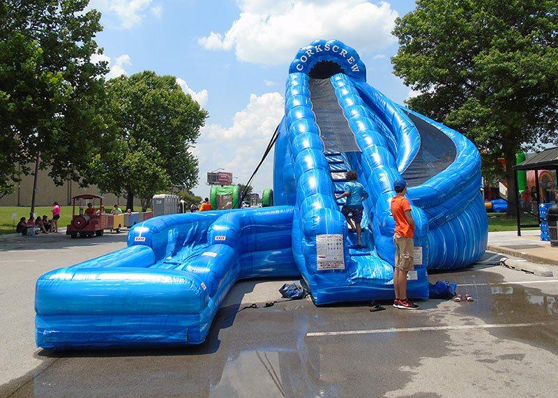 Corkscrew Water Slide