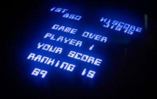 Retro Arcade Game Over Screen