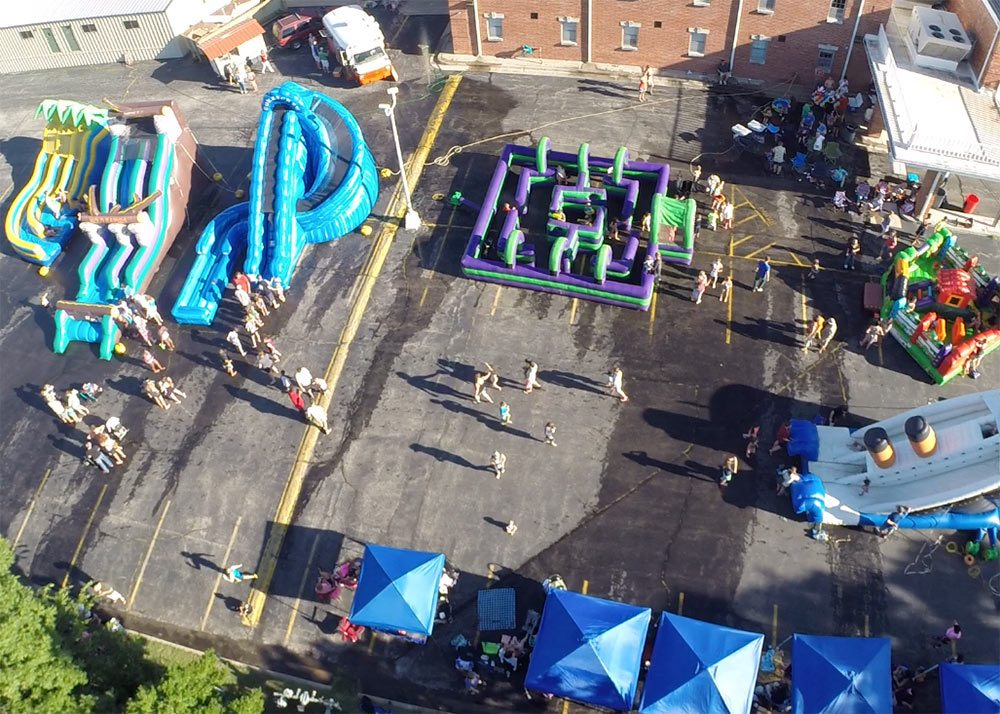 Overhead View of Water Event